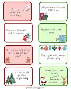 Christmas Kindness Elves free printables. Free kindness elf ideas and printable cards.