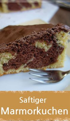 Marmorkuchen mit Schokoglasur, saftig und lecker - MeineStube Recipe for a juicy and delicious marble cake with chocolate icing. Sponge cakes from the oven can be baked in a cake tin with a flat base, Homemade Cake Recipes, Baking Recipes, Healthy Protein Breakfast, Victorian Cakes, Nutella Cake, Oven Canning, Marble Cake, Chocolate Icing, Cake Tins