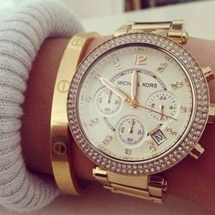 Cartier + Michael Kors I'm falling for this watch... see it everywhere!