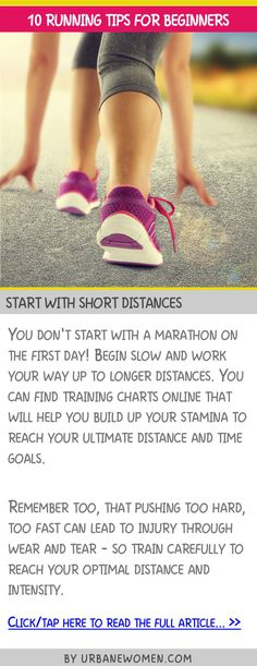10 running tips for beginners - Start with short distances