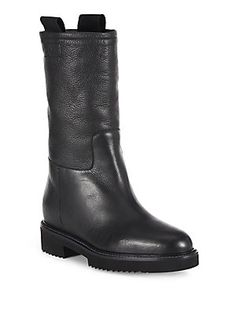 Vince Chenay Mid-Calf Leather Boots