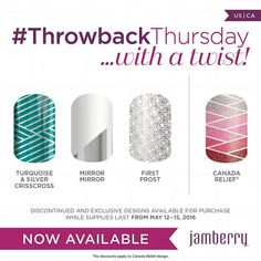 #throwbackthursday is now JAMazing, and even helpful for charity!  Order now.  Https://pmccullough.Jamberry.com
