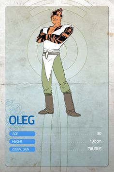 """Here's the next character card, as every monday! This week is OLEG's turn.  Remember to support Lumina here! http://goo.gl/DJeyNw — A real WARRIOR. He was practically born in the arena, her mother was a """"headblunter"""" and his father was a barbar. Oleg's got an infinite list of victories on the field, and his as strong as good-hearted. He's not really the first of the class, but he's surely one of the most nice, trustworthy guy on the planet.  #Lumina #MondayHero #makeithappen"""