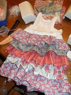 Do you like this tank top ruffle dress?A fun way to dress up a party is to make your own dress or costume.