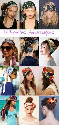 lenços, para que te quero Bandana Hairstyles, Messy Hairstyles, Bad Hair, Hair Day, Hair Wrap Scarf, Hair Scarfs, Gossip Girl Serie, Head Scarf Tutorial, Head Scarf Styles