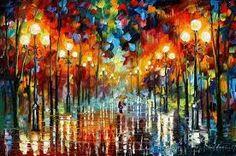 Afremov's paintings are stunning...