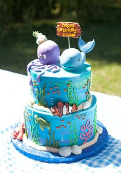 under the sea birthday party | Under the Sea party: Kiernan is 1! | Chickabug