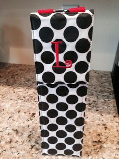 Thirty One Perfect Bottle Thermal with red personalization #wine