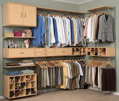 Closet world offers custom walk in closets, closet organization systems and storage solutions. Design your own closet with closet world. Closet Bedroom, Master Closet, Closet Space, Walk In Closet, Garage Closet, Closet Storage, Closet Organization, Wardrobe Organisation, Storage Sheds