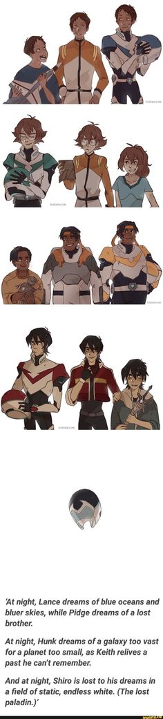 If anyone knows the artist, I'd to request and give credit. Previous Pinner: #voltron, #voltronlegendarydefender, #lance, #keith, #vld
