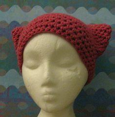 Rose Pink Handmade Kitty Hat