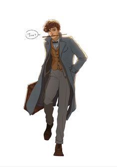 Well done Newt! - Harry Potter - Home Harry Potter Fan Art, Harry Potter Drawings, Harry Potter Anime, Harry Potter Universal, Harry Potter Fandom, Harry Potter World, Fantastic Beasts Fanart, Fantastic Beasts And Where, Hogwarts