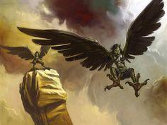 Arpía: monstruos dañinos con forma de ave, cabeza de mujer y afiladas garras. Descienden desde las nubes emitiendo un chillido horrible, solo precedidas por una repentina ráfaga de viento o un relámpago. Más rápidas que el viento del Oeste.