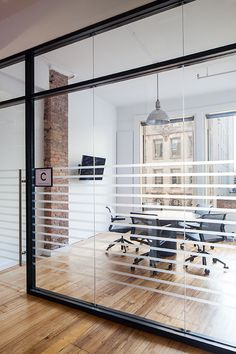 Nice simple graphic details for this meeting room
