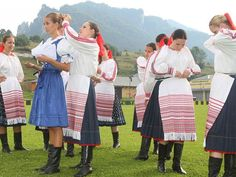 Horehronie region, Central Slovakia. Girl in blue Myjava region, Western Slovakia.