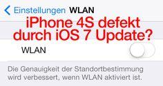 iPhone 4S kaputt durch iOS 7? Kein WLAN & Bluetooth mehr, Schalter bleibt grau? - http://apfeleimer.de/2013/11/iphone-4s-kaputt-durch-ios-7-kein-wlan-bluetooth-mehr-schalter-bleibt-grau - iOS 7 Update macht iPhone 4S kaputt meint Golem. Durch das Update auf iOS 7 werden iPhone 4S unbrauchbar bzw. nach dem Update auf iOS 7 kann auf den entsprechenden Geräten kein WLAN und Bluetooth nicht mehr aktiviert und genutzt werden. Dies scheint nicht nur bei älteren Geräten der Fall