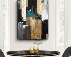 Large Abstract Acrylic Painting Large Wall Art Gold Leaf Art Modern Art Original Painting Abstract Painting On Canvas by Julia Kotenko Oil Painting Abstract, Texture Painting, Acrylic Paintings, Art Original, Original Paintings, Gold Wall Decor, Gold Leaf Art, Feuille D'or, Atelier D Art