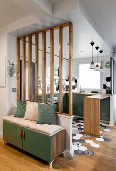 49 creative small apartment kitchen design and organization ideas 20 Small Apartment Kitchen, Home Decor Kitchen, Diy Home Decor, Small Kitchens, Kitchen Modern, Design Kitchen, Kitchen Ideas, Semi Open Kitchen, 70s Kitchen