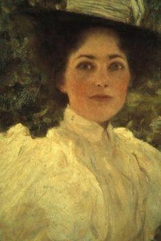 """Gustav Klimt (1862-1918), """"Mädchen im Grünen"""" (""""Girl in the Countryside"""")"""