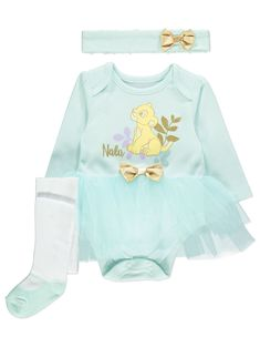 Disney Lion King Tutu Bodysuit 3 Piece Outfit | Baby | George