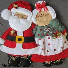 Discussion on LiveInternet - Russian Service Online Diaries Christmas Bazaar Crafts, Christmas Sewing, Felt Crafts, Handmade Christmas, Holiday Crafts, Christmas Crafts, Christmas Wall Hangings, Felt Christmas Decorations, Felt Christmas Ornaments