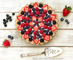 Red, White, and Blue No Bake Berry Cheesecake (Low Carb, Gluten-Free) + Summer Cookbook Preview | Healthy Indulgences
