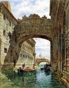 Angelo Goodall Edward (1819-1908) of The Bridge of Sighs, Venice.
