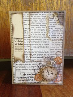 interesting use of dsp Happy Day, Stamping, Card Ideas, Vintage World Maps, The Past, Scrapbooking, Invitations, My Love, Paper
