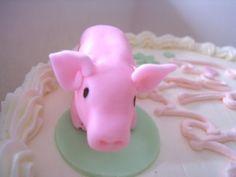 Piggy cake topper