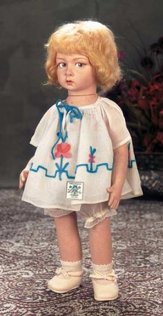The Dolls in the House at the Top of the Hill: 177 Italian Cloth Character Child by Lenci with Original Costume