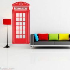 "Adesivo da parete ""London Red Telephone Box""Vinyl Wall design Stickers Decals | eBay Telephone, Wall Design, Bookends, Decals, English, Stickers, London, Box, Home Decor"