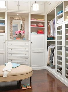 Walk In Closet, closet inspiration, built in closets, closet organization, dream closets Wardrobe Closet, Master Closet, Closet Bedroom, Closet Space, Diy Bedroom, Open Wardrobe, Closet Mirror, Closet Paint, Closet Doors