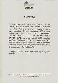 Blog Paulo Benjeri Notícias: Prefeitura Municipal realizará audiência publica s...