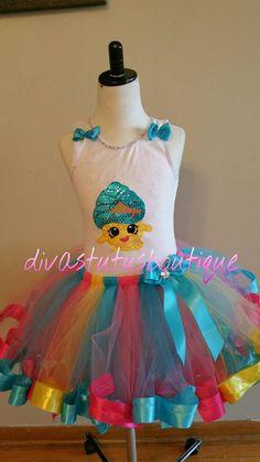 Shopkins tutu set cupcake queen tutu set/ by Divastutusboutique