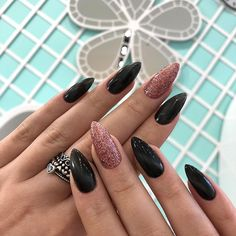 100 Long Nail Designs 2019 Ideas in our App. New manicure ideas for long nails. Trends 2019 in nails nail design Pink Black Nails, White Nails, Classy Nails, Stylish Nails, Long Nail Designs, Nail Art Designs, Gorgeous Nails, Pretty Nails, Nails Now