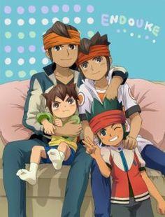 Inazuma Eleven - Daisuke (David), Mamoru (Mark) y Kanon (Canon) Evans. La familia evans