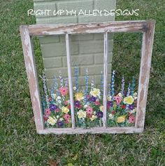 Do it yourself diy ideas screens window and craft old painted windowwindow artcustom order windowwall art solutioingenieria Images