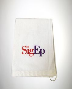 74a84fb2fcf Shop now The Official SigEp Logo Golf Towel from Official Sigep Merchandise