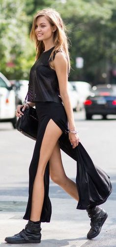 #summer #fashion / all black everything
