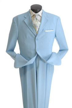 Vittorio St. Angelo Men's 2 Piece Poplin Suit - 3 Button