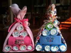 Stork Bundle Baby Shower Gift Set. For Wendy's twins? Maybe :)