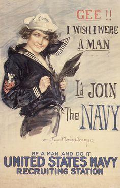 Gee I Wish I Were A Man Howard Chandler Christy 1917