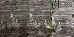 lightbulb vases (or at least lightbulb-inspired). wonder if this can be easily DIY'ed? Wallpaper Uk, Fabric Wallpaper, Designer Wallpaper, Bulb Vase, Shabby Chic Antiques, Textile Patterns, Textiles, Pattern Mixing, Outdoor Fabric