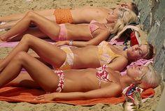 Four Sunbathers, Lorne (1968) by Rennie Ellis