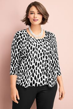 c7a3c398f13083 Wednesday Plus: Twinset elegance. Shop our latest plus-size collection  exclusively at Talbots