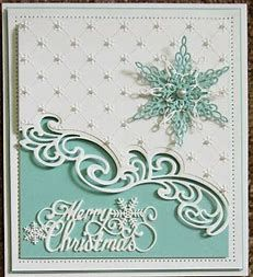 Image result for sue wilson art deco snowflake projects