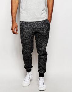 """Joggers by Native Youth Loop-back knit Drawstring waistband Side pockets Fitted cuffs Tapered fit - cut loosely around the thigh and tapered from the knee to the ankle Machine wash 100% Polyester Our model wears a size Medium and is 188cm/6'2"""" tall"""