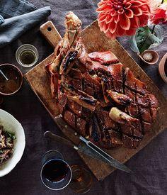 Slow-roasted pork shoulder with fennel