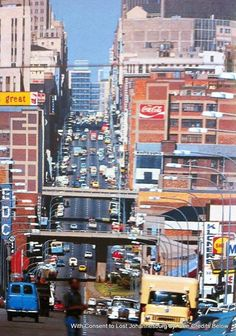 Anderson Street looking east Johannesburg Skyline, African Image, Third World Countries, Pretoria, African History, Live, South Africa, Landscape Photography, Places To Go