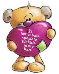 Klop my hart vinniger Love Pictures, Beautiful Pictures, Afrikaanse Quotes, Goeie More, Birthday Pictures, Wisdom Quotes, Winnie The Pooh, Disney Characters, Fictional Characters